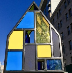 tiny blue and yellow fruin house photo by gail worley