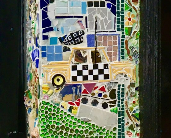 yellow cab mosaic photo by gail worley
