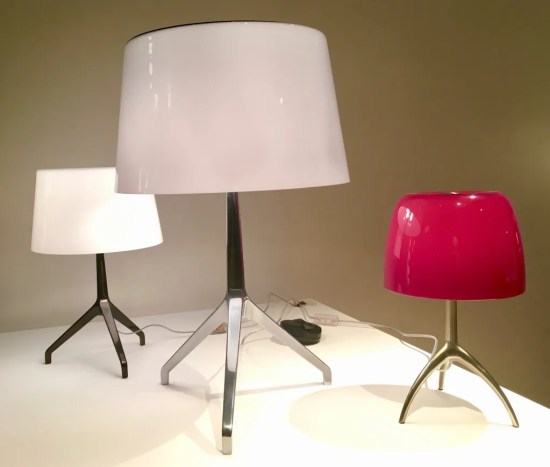 lumière table lamp by foscarini photo by gail worley