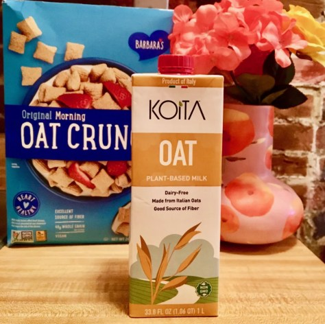 koita oat milk and cereal box photo by gail worley