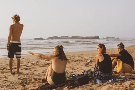 Beach Gathering of Friends