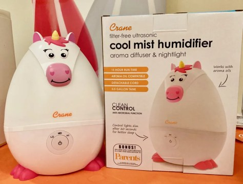 unicorn humidifier by crane photo by gail worley