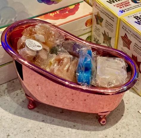 pink mini bathtub photo by gail worley