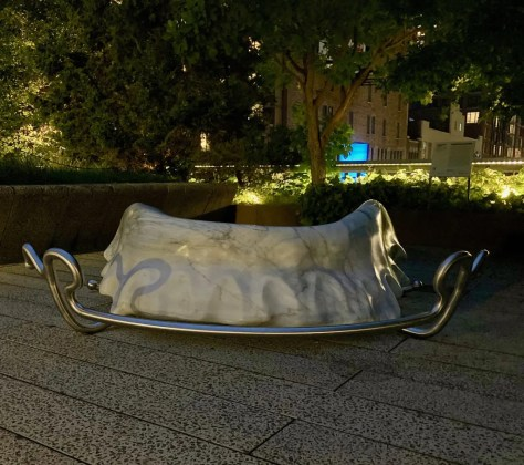 retainer on high line at night photo by gail worley