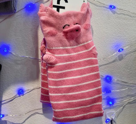 pig socks by foot traffic photo by gail worley