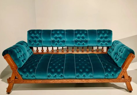 gothic sofa by kimbel and cabus photo by gail worley