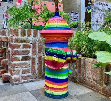 rainbow fire hydrant photo by gail worley