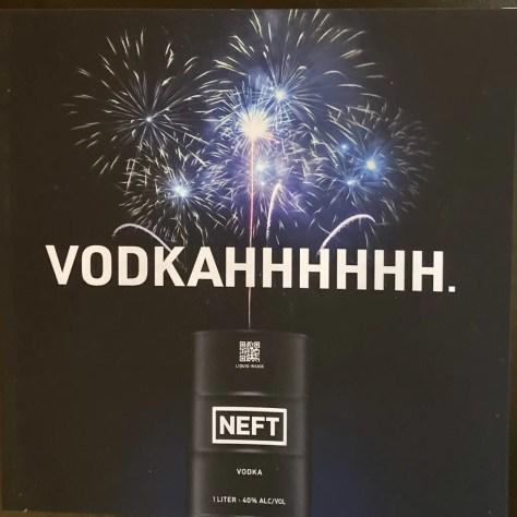 neft vodka ad photo by gail worley