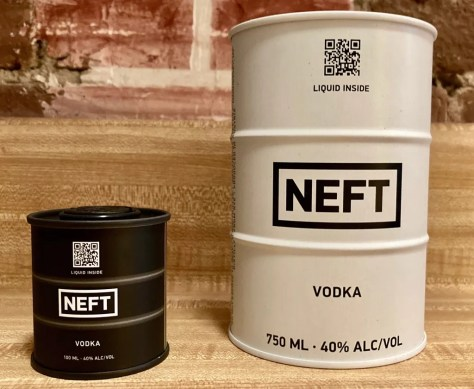 neft vodka cans photo by gail worley
