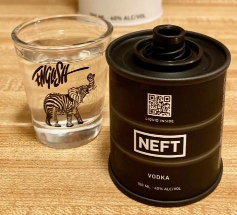 neft vodka shot photo by gaol worley