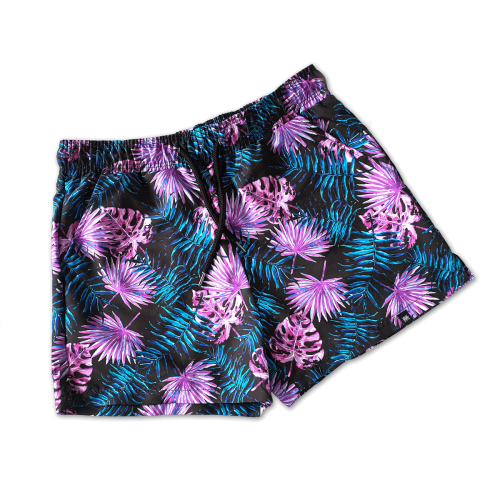 Bright Palm Leaf Swim Shorts Mens