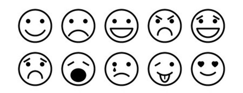 Les émotions en émoticones