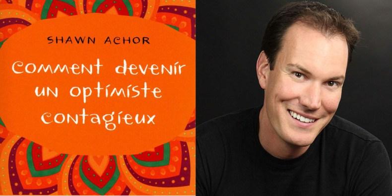 La couverture du livre et son auteur, Shawn Achor