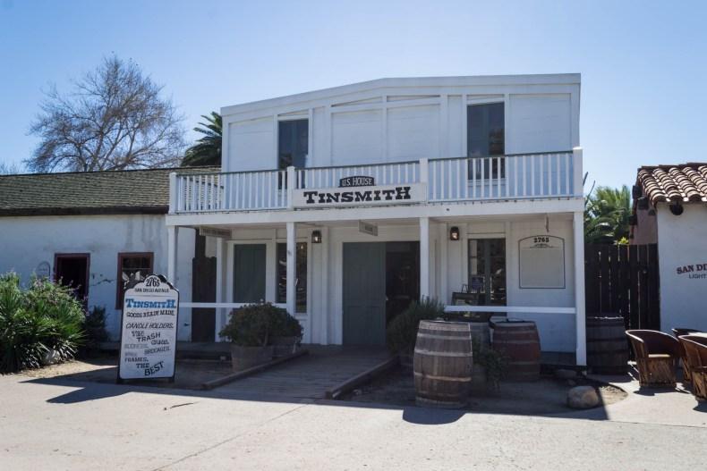 Une des maisons du Old San Diego à l'architecture Western