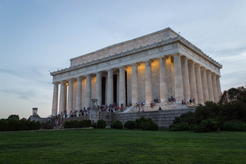 Le Lincoln Memorial à l'heure bleue