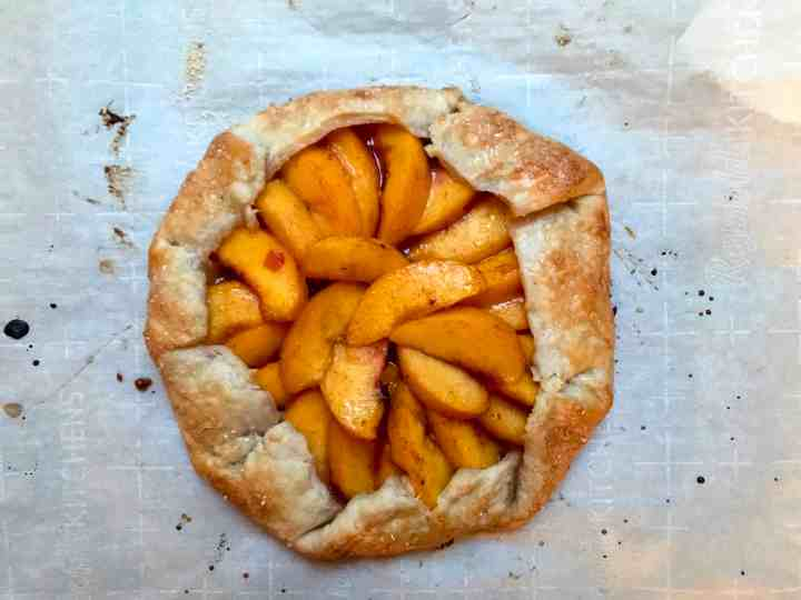 perfect peach galette