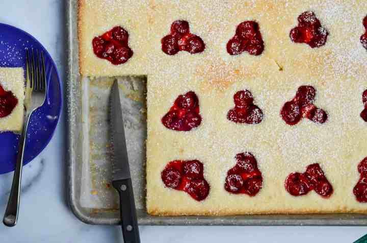 cherry shortcake squares