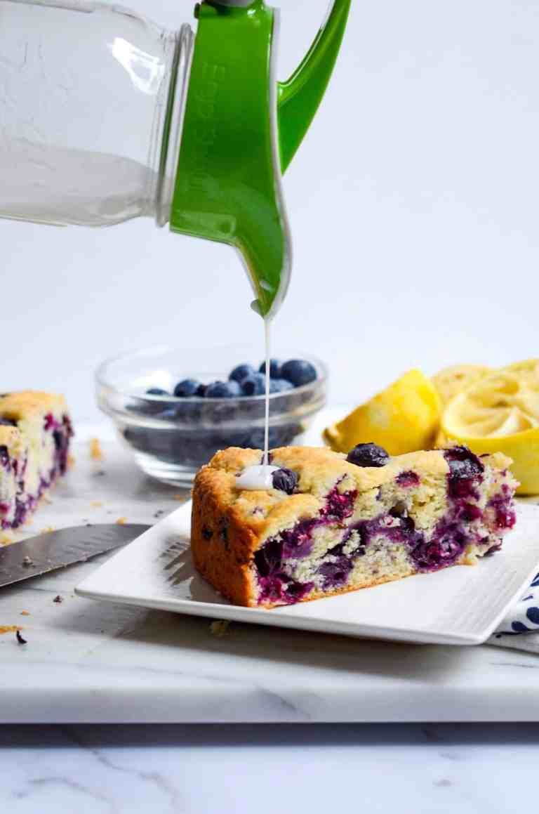 Lemon Drizzle on Blueberry Cake