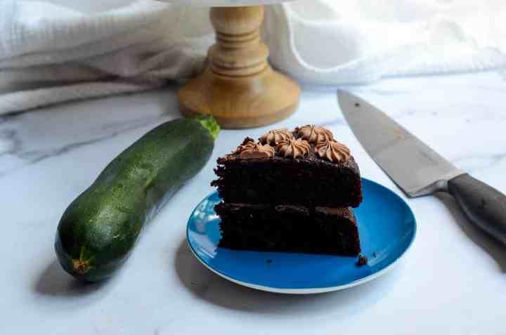 slice of chocolate zucchini cake