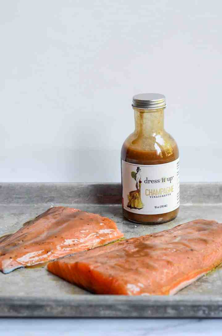 salmon fillets with champagne vinaigrette