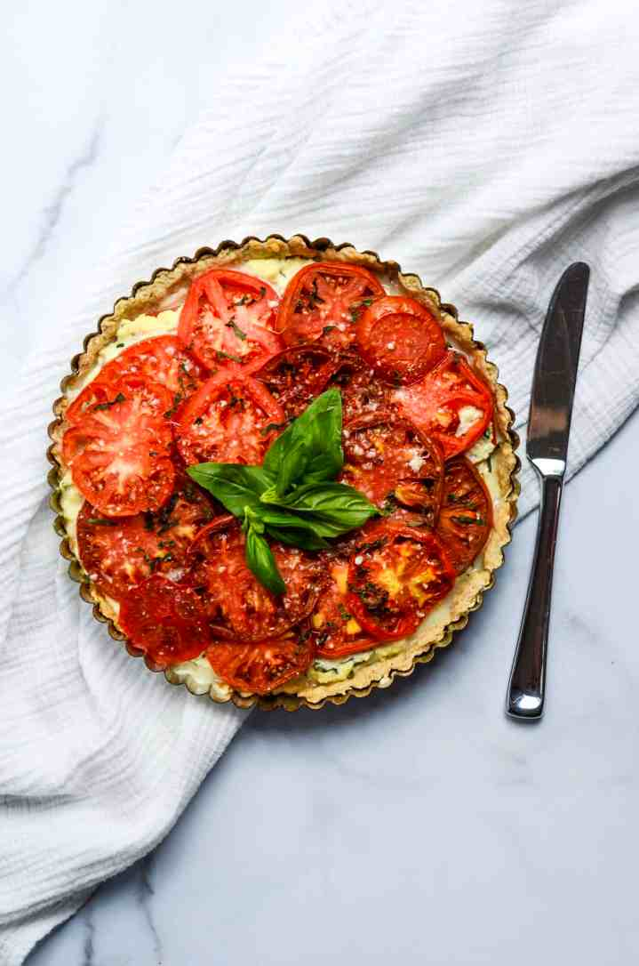 fully baked tomato pie