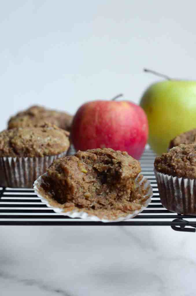these are hearty muffins thanks to the whole wheat that'll fill you up
