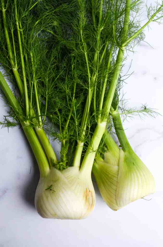 fennel is delicious - give it a try in this salad even if you don't like the taste because the acidity of the fruit does something magical to the fennel