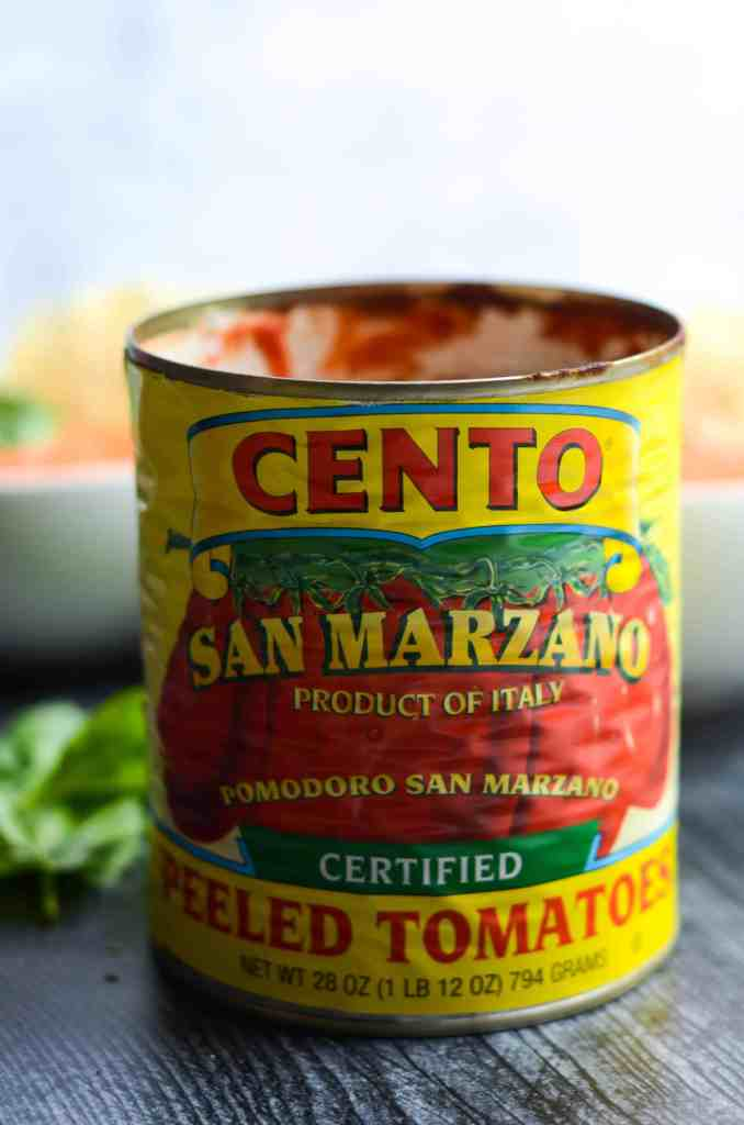 san marzano tomatoes are the best tomatoes to use in this soup.