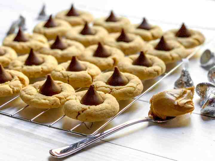 peanut butter blossom cookies are everyone's favorites