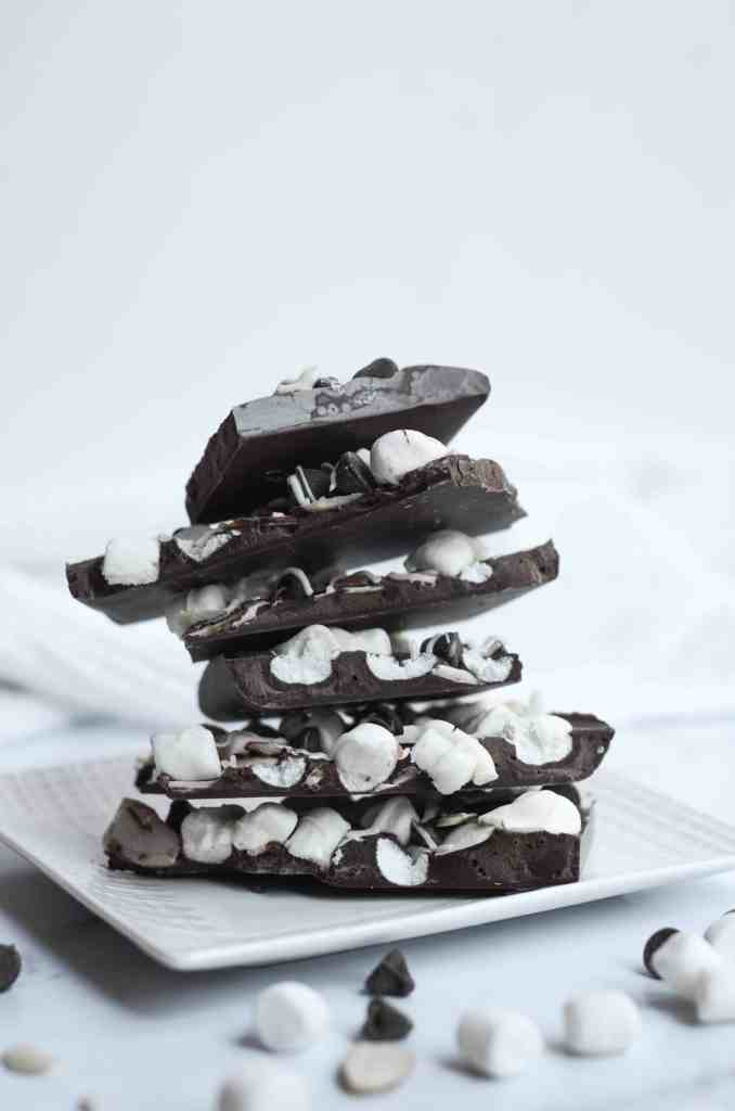 chocolate bark can be made from dark chocolate or milk chocolate