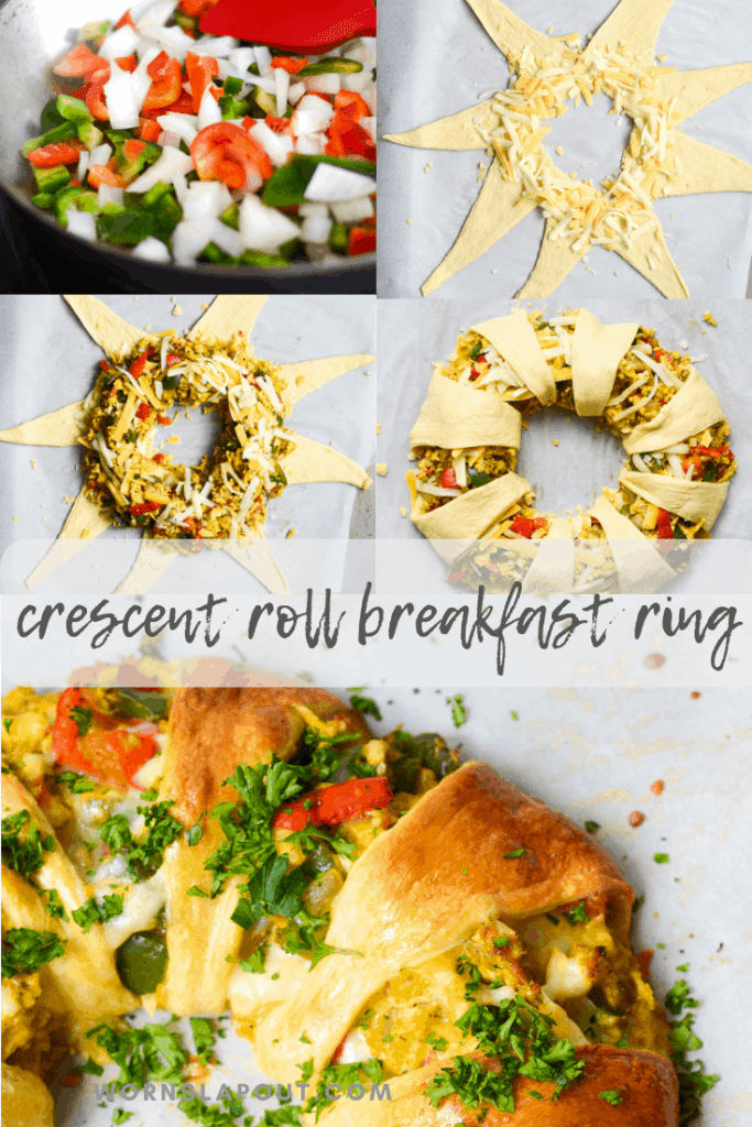 This crescent roll breakfast bake is so easy to make and delicious.