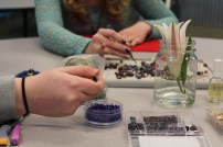 Beads & Bibles, a Bible study and beading class that I lead for high school girls.