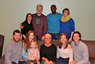 Thanksgiving with almost the whole family. The little one was just a few days from her due date!