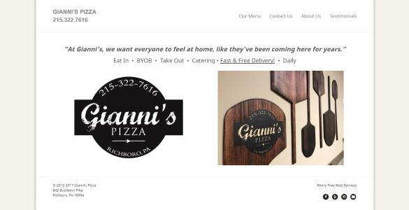 GIANNI'S PIZZA | Best Pizza in Richboro, PA 215.322.7616