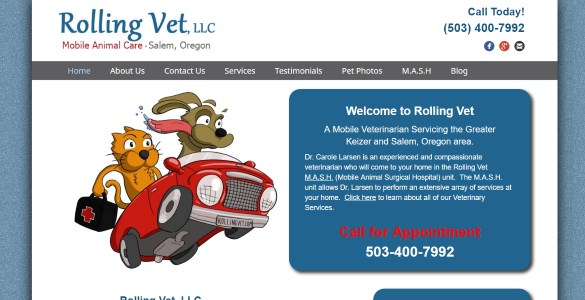 Rolling Vet, LLC, Mobile Animal Care in Salem, Oregon | (503) 400-7992