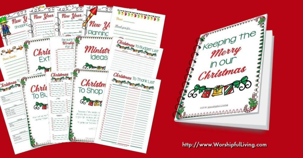 Looking for a way to keep your Christmas organized? This binder has over 30 pages to keep you organized from the time Christmas thoughts enter your head till New Years Day!