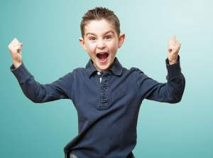 Excited young boy