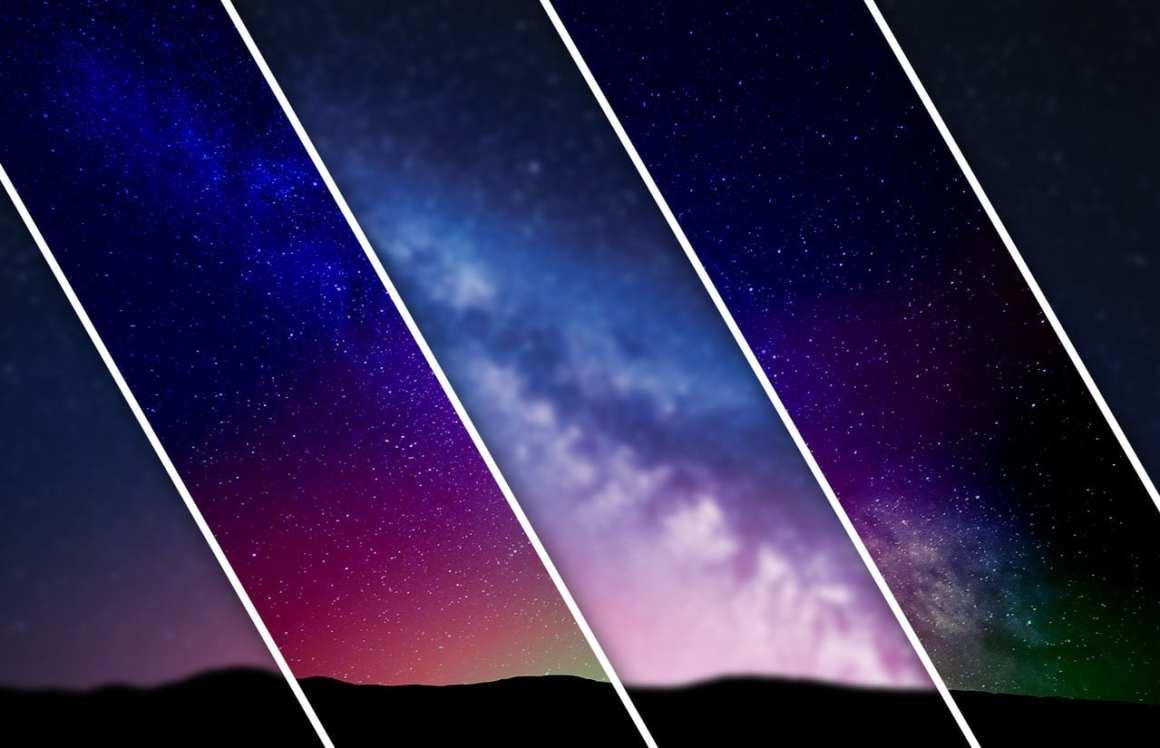 Stars above ridge