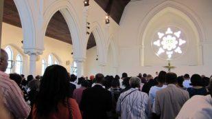 Gathered for worship, London UK