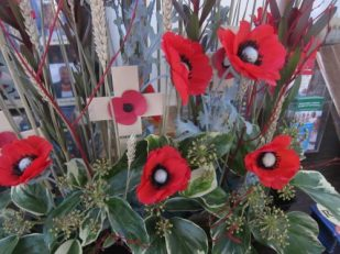 Remembrance Day bouquet, London UK