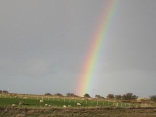 Rainbow, Lindisfarne, Holy Island UK -- Ana Gobledale