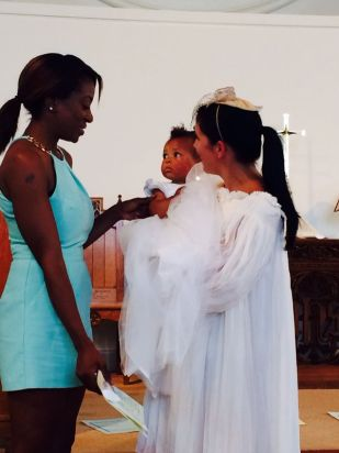 Baptism of Raphaella, London -- photo by Ana Gobledale