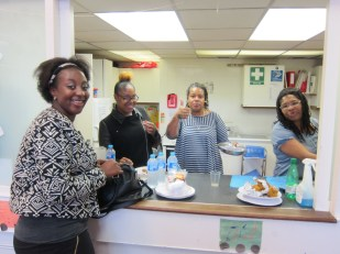 tea time after worship, New Cross, London UK