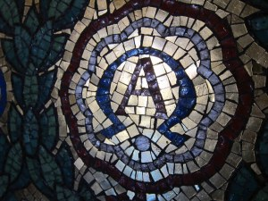 Alpha Omega mosaic - by Ana