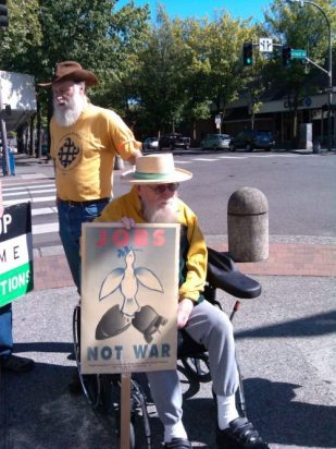 activist for peace, Bellingham, Washington USA