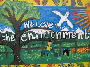School mural, Greytown, New Zealand