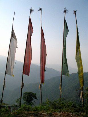 Prayer flags, Nepal -- by Thandiwe Dale-Ferguson