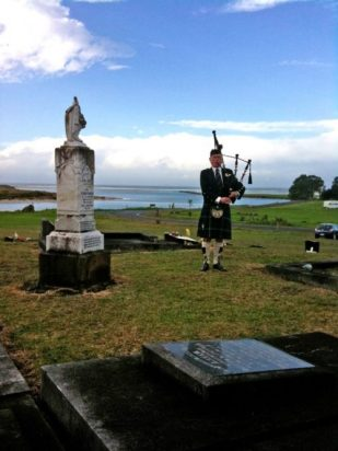 New Zealand Piper on All Hallow's Eve, from Progressive Christianity Aotearoa