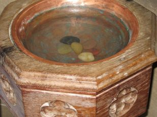 baptismal font, Wiltshire UK -- by Ana Gobledale
