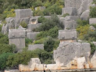 Hillside tombs, Turkey -- Ana Gobledale